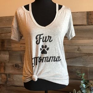 Relaxed Fit Fur Momma Cut-out Tee 🐾